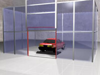 Inflatable Automobile Test Shed Seals